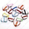 Bead,transparent inside color,12mm heart beads,Mixed color